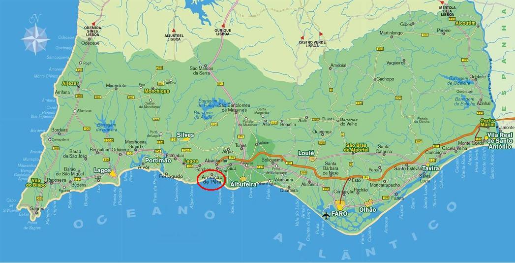 armação de pêra mapa T4 Vista Mar: Mapa de Armação de Pêra armação de pêra mapa