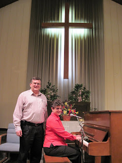 Laurel Jean with Pastor Tim Ward, First Free Methodist Church, Peoria, IL