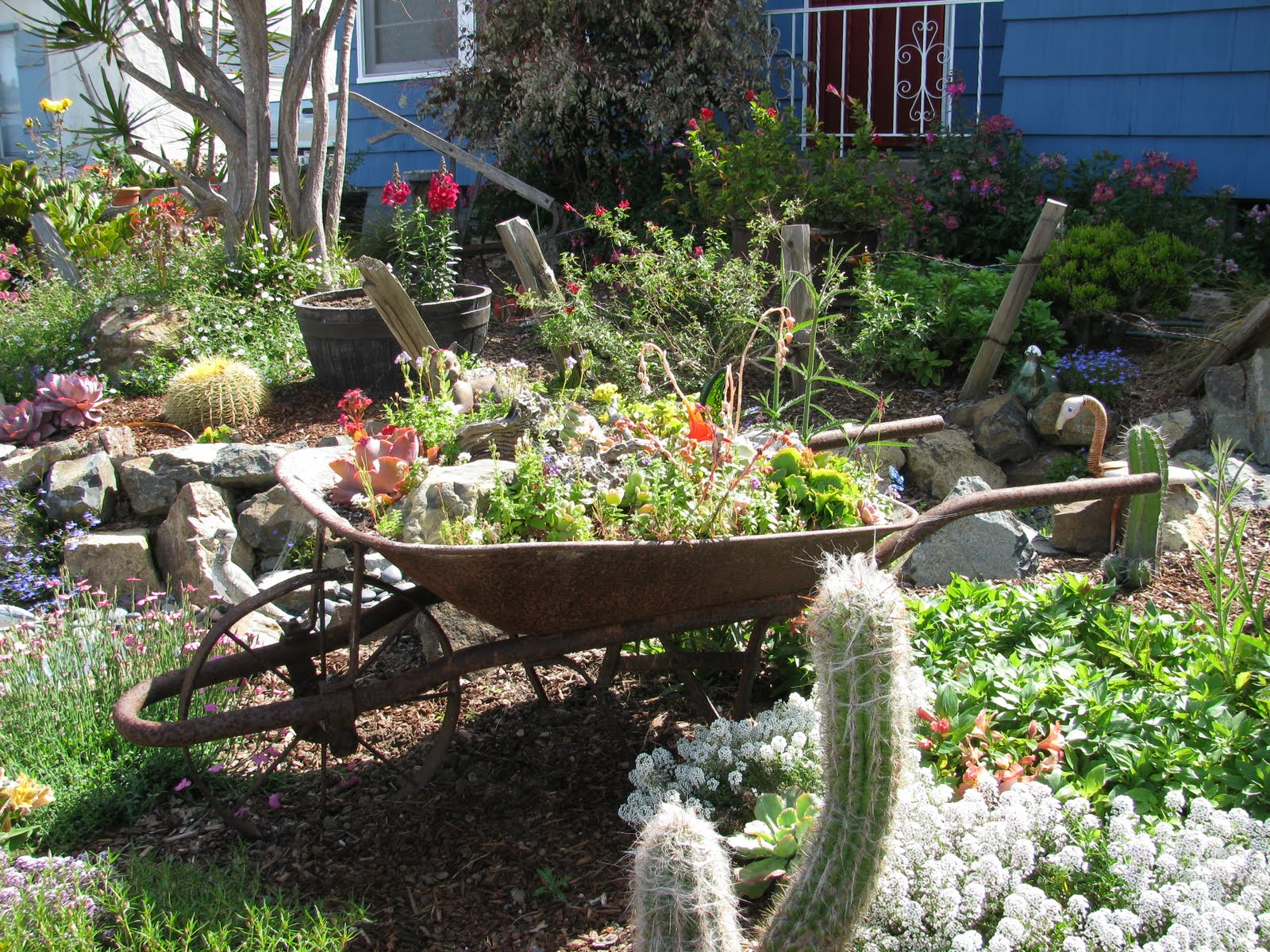 ... Laurent And The Meditation Gardens The Serenity Of The Yogi, The Hidden  Gardens Are Like Comfort Food. The Xeriscaped Front Yard Is Whimsical And  Just A ...