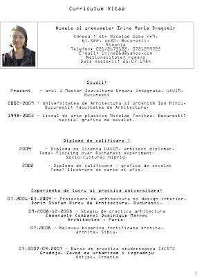 Curriculum Vitae In Romana Simplu Alg Groupe Ch