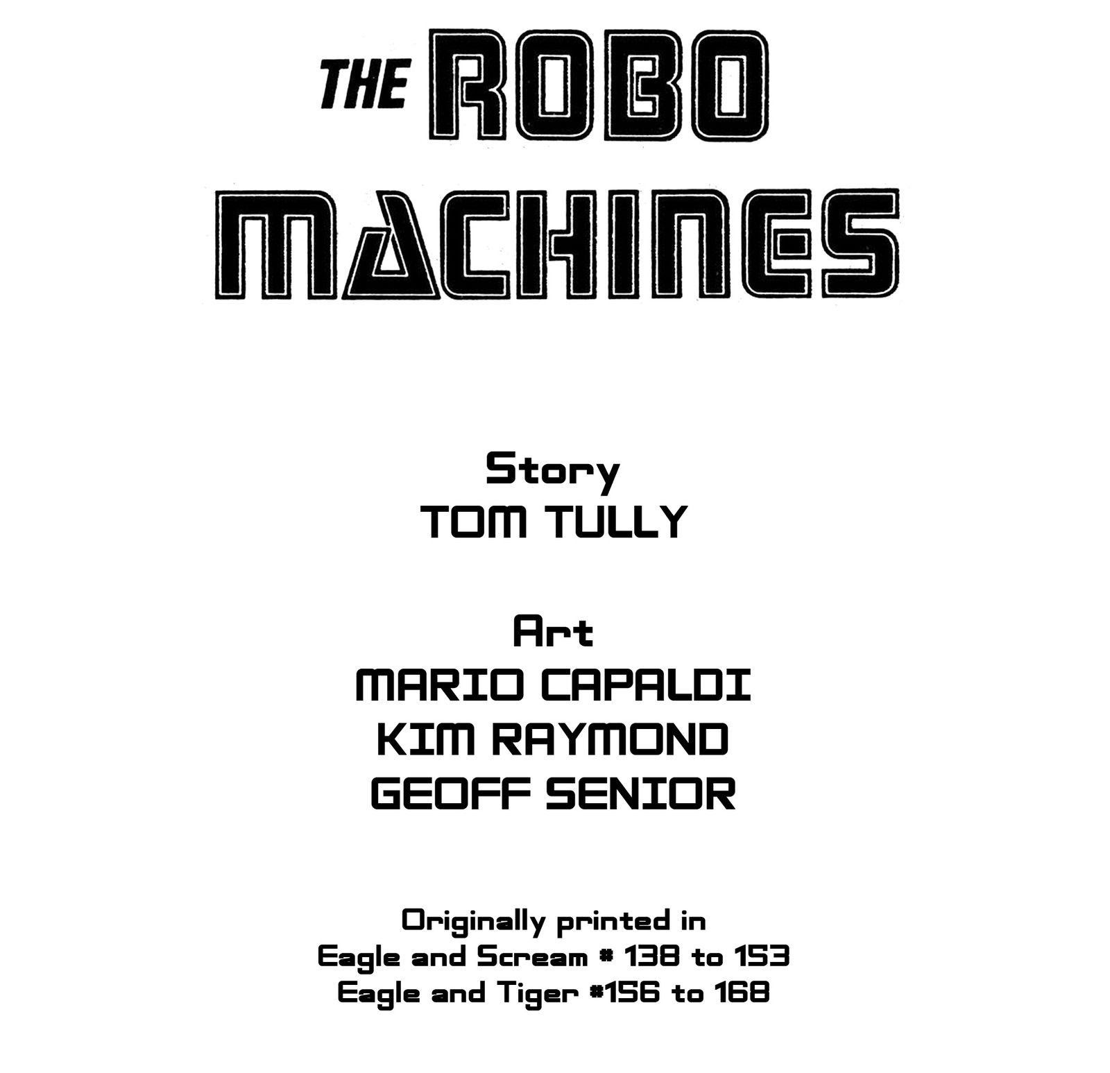 Read online Robo Machines comic -  Issue # TPB - 2