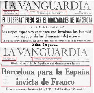Obsolescentes: La Vanguardia y la toma de Barcelona