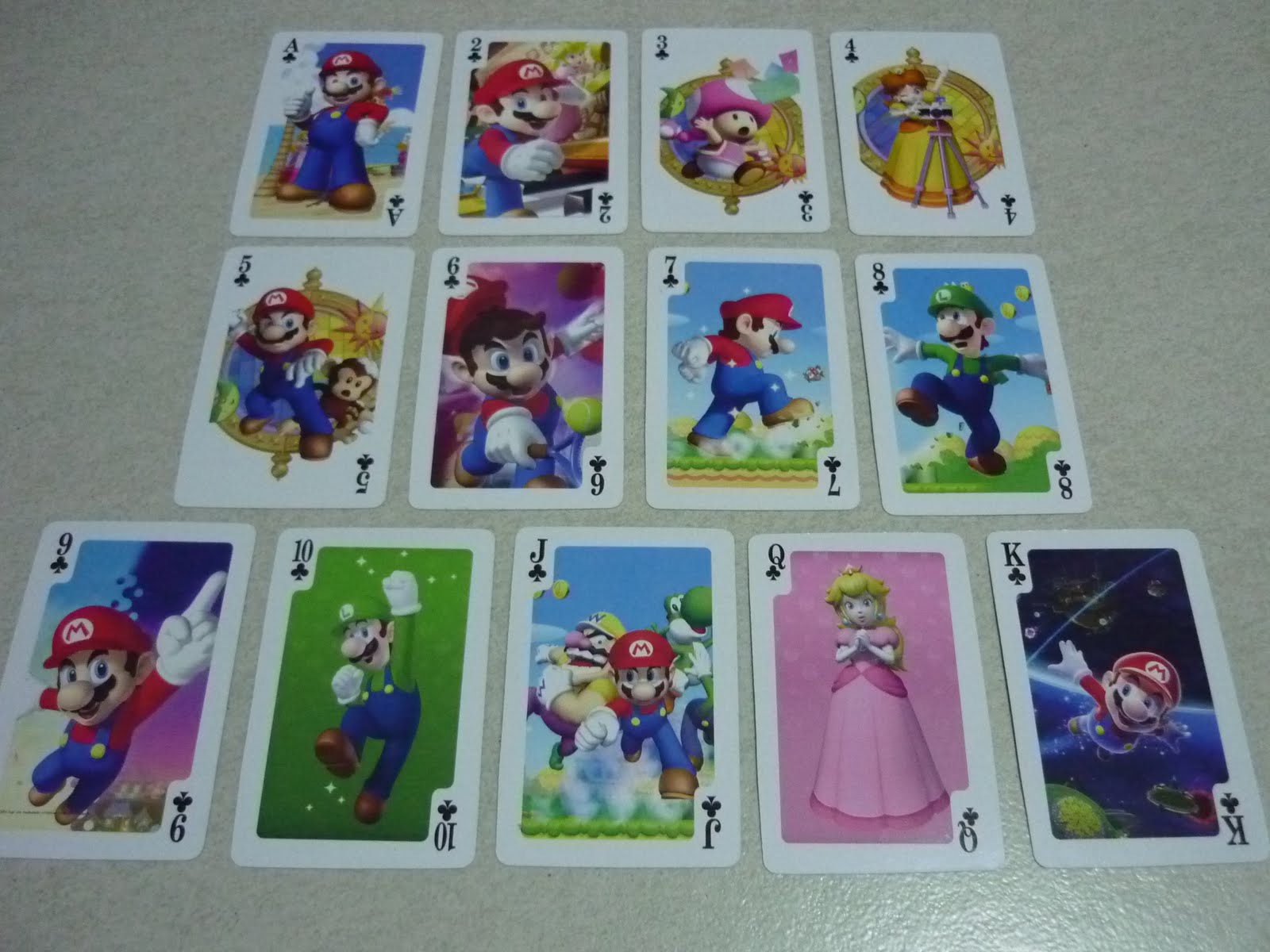 Disney Anime Toys Dat Super Mario Poker Cards