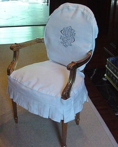 Look Ma I M Sewing Slipcovers Monogrammed Dining Chairs