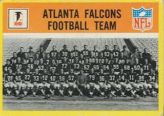 1967 Football Cards: Atlanta Falcons