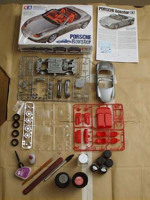 Scale Model Kits Tamiya Porsche Boxster Plastic Model Car Kit Review