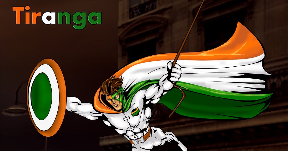 Superhero Artwork: Tiranga