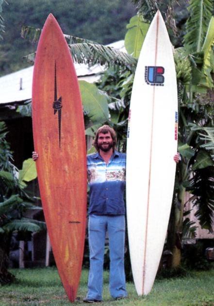 Board Collector 1973 Ken Bradshaw Shaped Lightning Bolt
