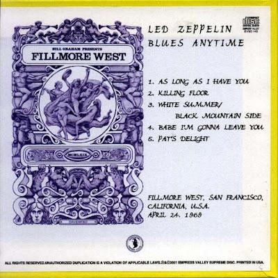 Led Zeppelin: Blues Anytime  Fillmore West, San Francisco
