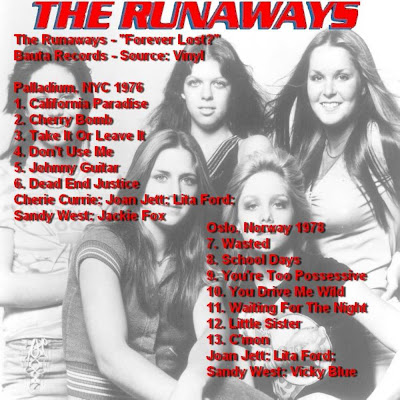 The Runaways Forever Lost New York 1976 Oslo 1978