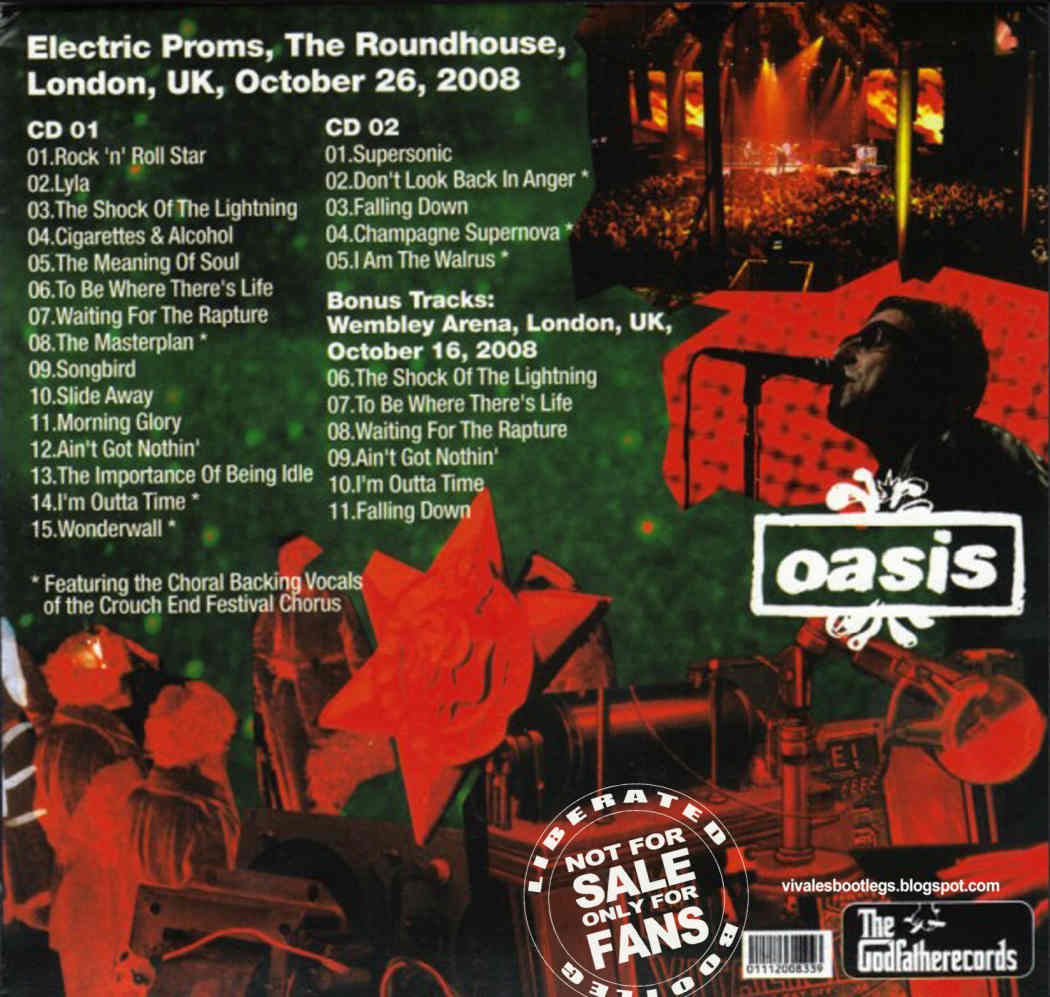 Oasis: The Magical Mystery. Electric Proms, The Roundhouse ... Oasis Masterplan