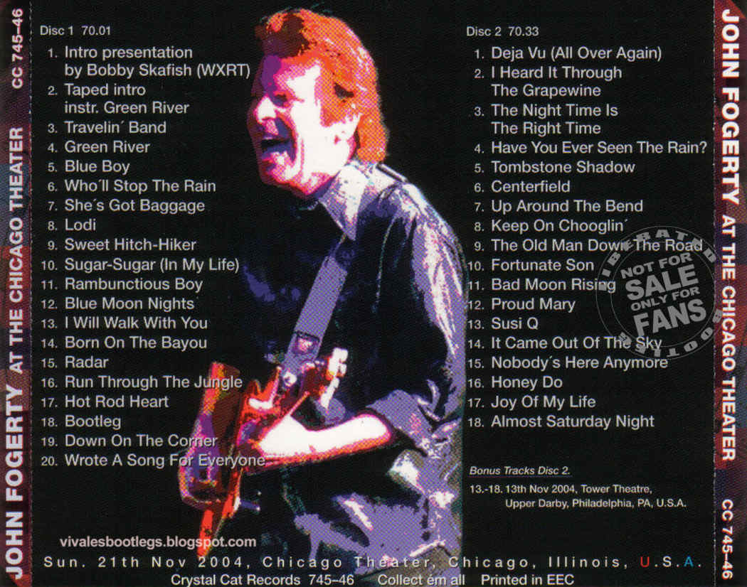 john fogerty at the chicago theater chicago illinois usa 2004 double cd ex audience. Black Bedroom Furniture Sets. Home Design Ideas