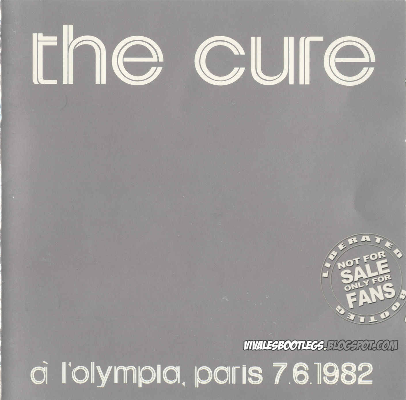 The Cure: A L'Olympia  Paris, France - June 07, 1982  (Double CD