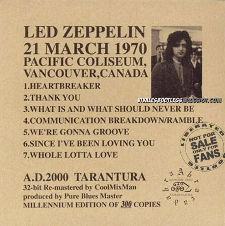 Led Zeppelin Pure Blues Pacific Coliseum Vancouver