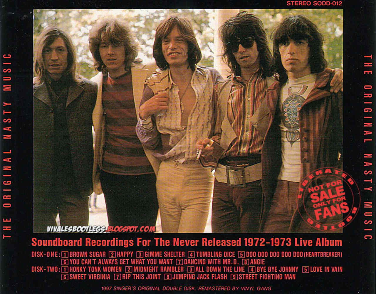 The Rolling Stones The Original Nasty Music Limited