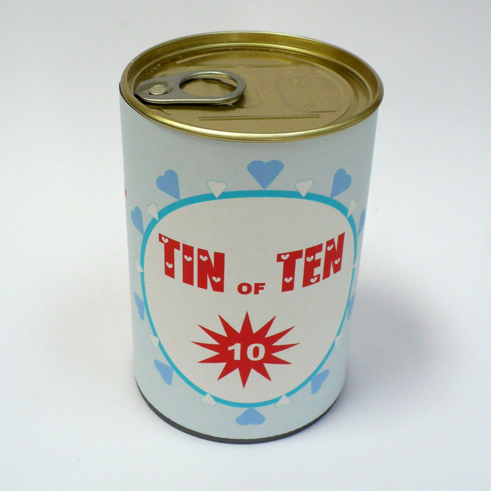 10 Year Wedding Anniversary Tin Gifts: Amelie's House: TIN OF TEN