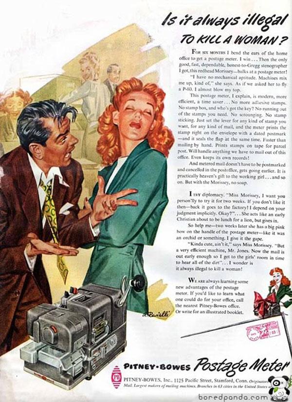 Bytes Vintage Ads Pitney Bowes Postage Meter