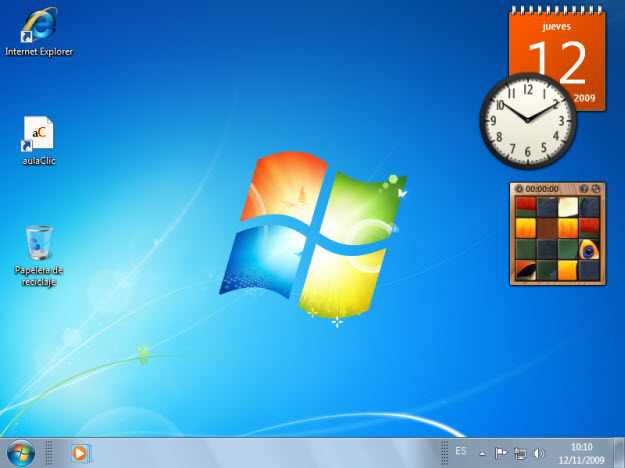 Windows 7 El Escritorio Y Las Barras De Tareas