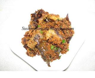 Stuffed Brinjal/ gutti vankaya kura