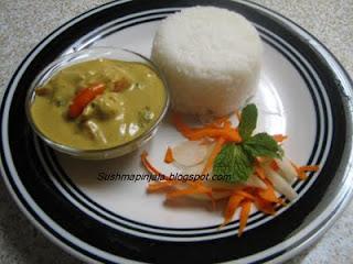Thai yellow curry( chicken)