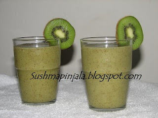 Kiwi and Apple Milk shake