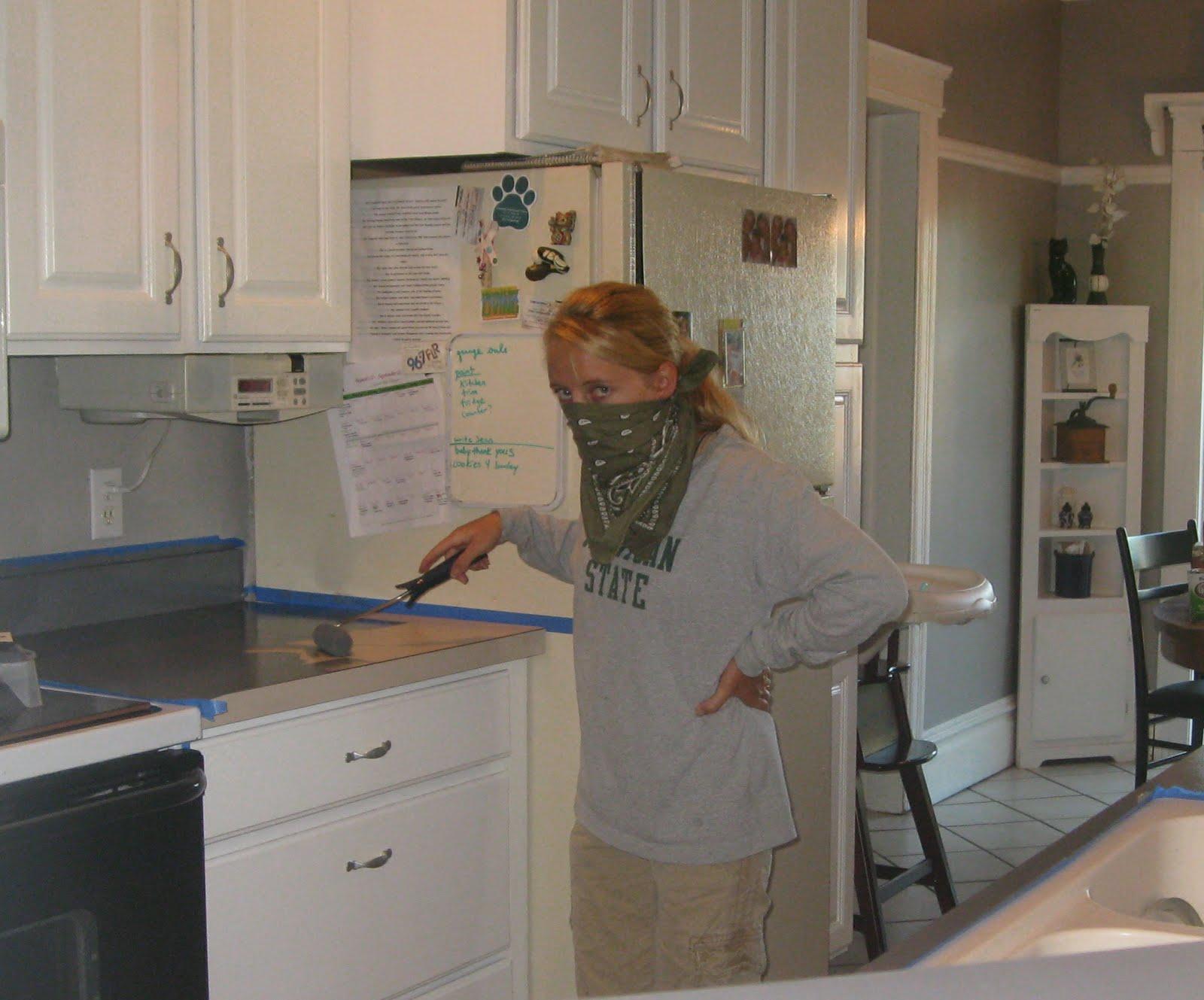 Kammy's Korner Painted Kitchen Counter Tops?!