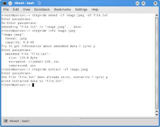 Hiding secret data into image and audio files (OpenSuSe