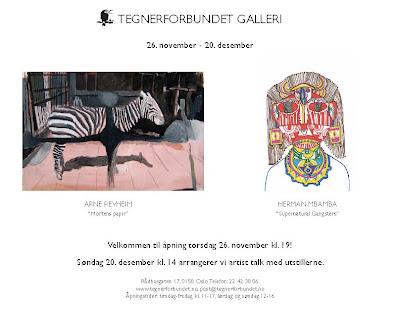 Tegnerforbundet galleri: Arne Revheim og Herman Mbamba
