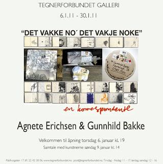 Tegnerforbundet Galleri Agnete Erichsen & Gunnhild Bakke 6. januar