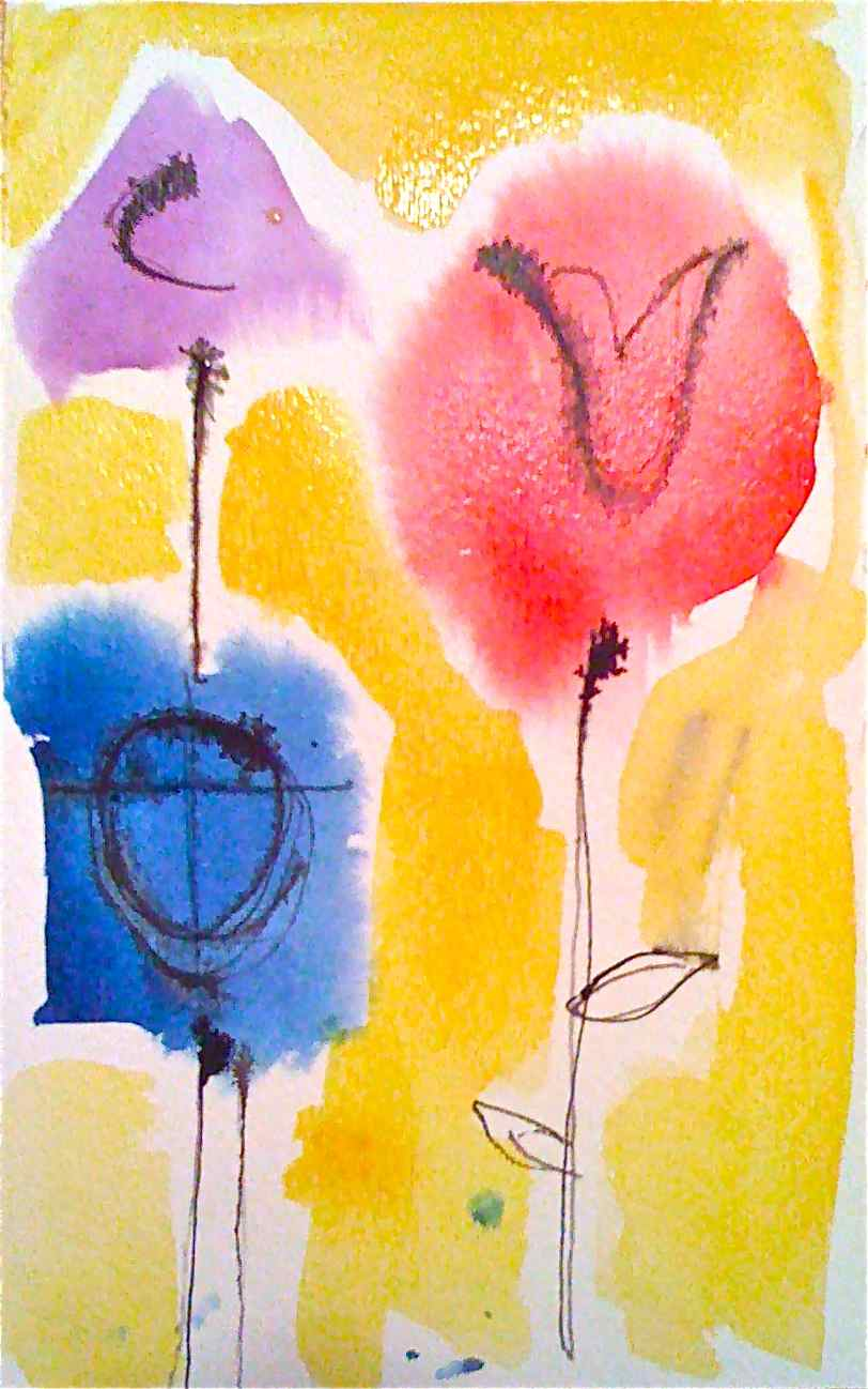 Wet Watercolor Flowers With Raoul Dufy