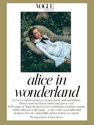 Alice in Wonderland Annie Leibovitz Vogue