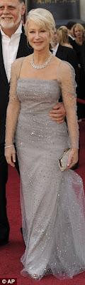 Helen Mirren Oscars 2010 Badgley Mischka