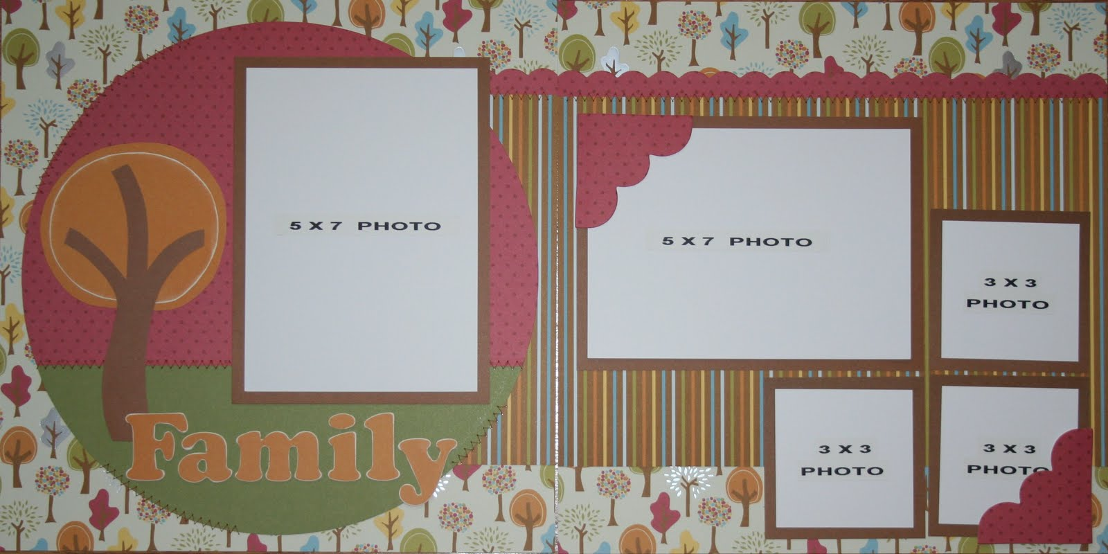 Scrapbooking For Others: FAMILY Premade Scrapbook Pages For Sale