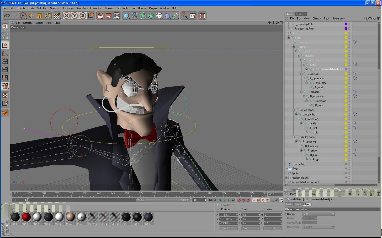 James Scott: Character rigging finishing up