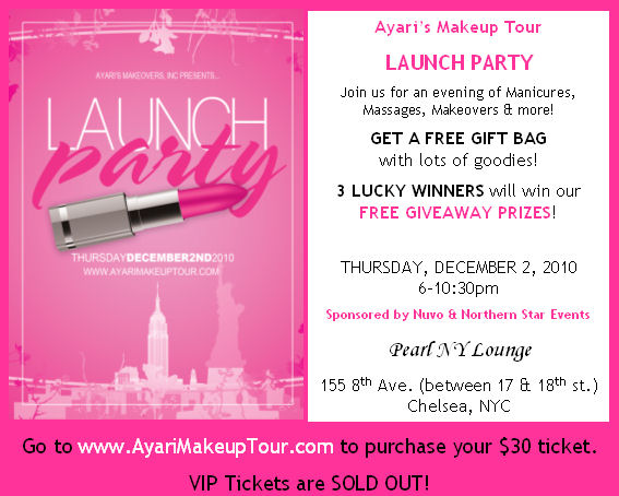 Launch Party Beauty Event Details!!! | Blog about Ayari's