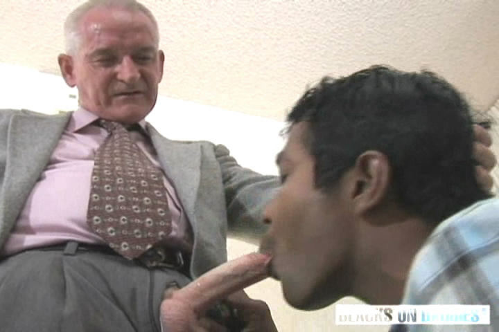 White Old Man And Black Skin Twink