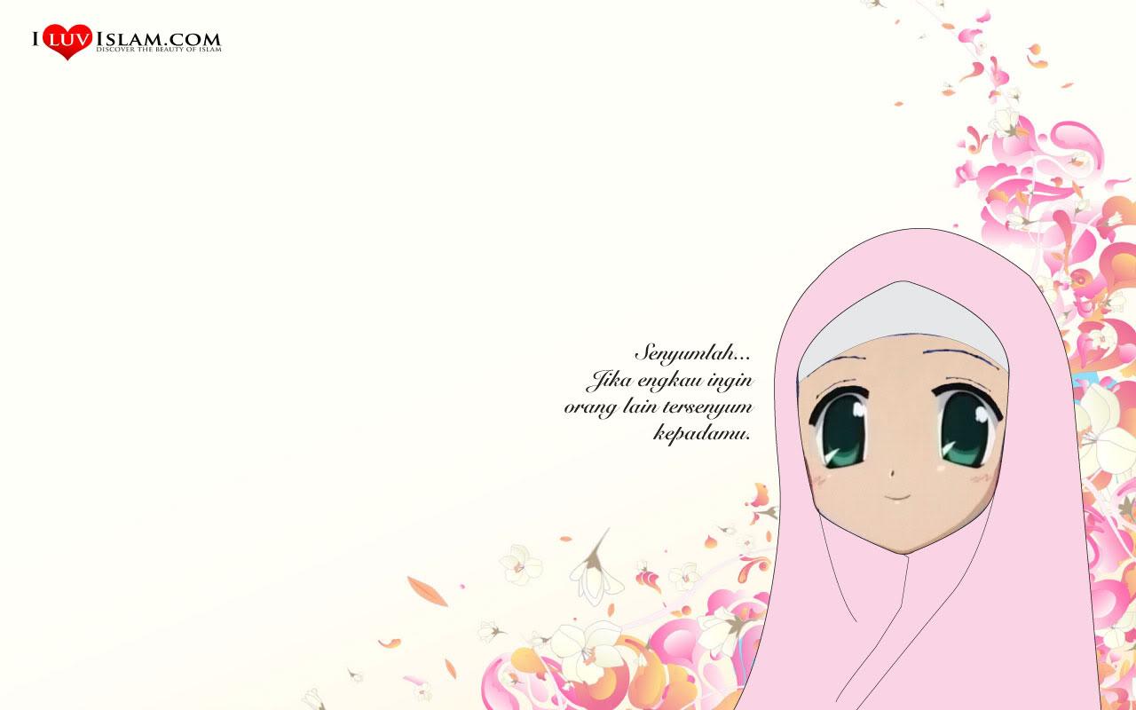 Gambar Kartun Muslimah Untuk Foto Profil Gambar Kartun