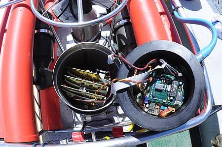 Plaquetas de las turbinas del ROV de Mariscope