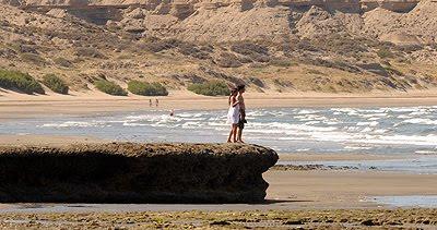 La Piedra Guacha, Playa de Puerto Pirámides