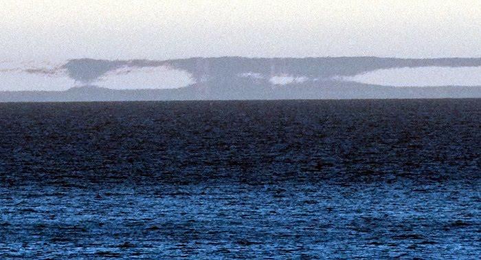 Espejismo ilusión óptica en el Golfo Nuevo Península Valdés