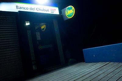 Puerto Piramides  ATM in Peninsula Valdés