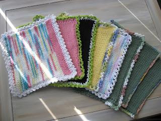 Magic Pixie Knitter Machine Knit Dishcloth Pattern