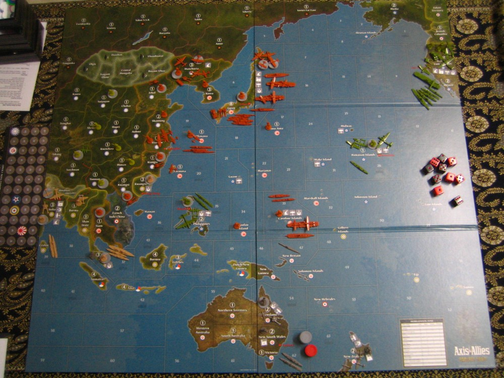 axis and allies pacific map Hiew S Boardgame Blog Axis Allies Pacific 1940 axis and allies pacific map