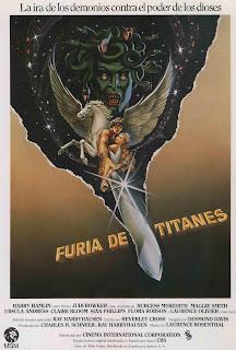 Póster de la película original de 'Furia de Titanes'
