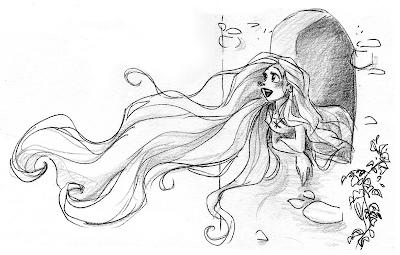 Concept art de Rapunzel (Enredados) 1