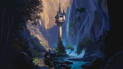 Concept art de Rapunzel