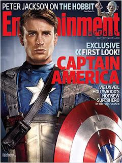 Portada de Entertainmente Weekly con Chris Evans como Capitán América