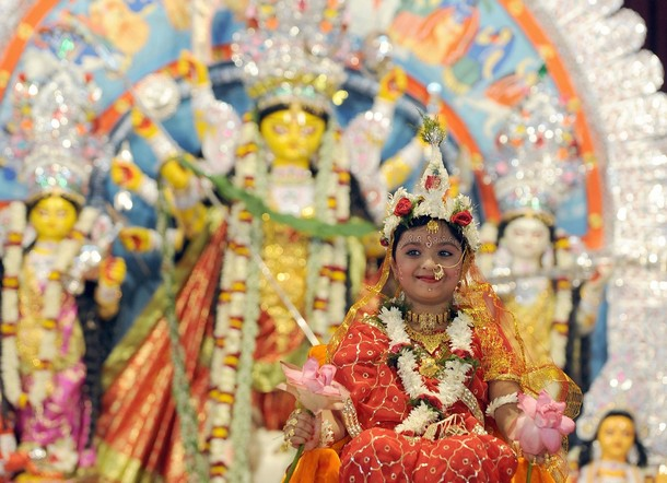 Kumari Puja images