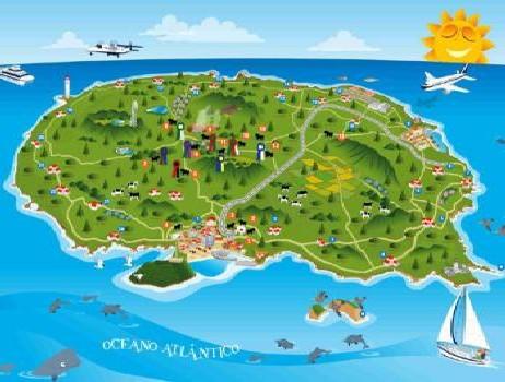 mapa ilha terceira NA TERCEIRA Mapa do Toiro roteiro próprio ~ Rabo Torto  mapa ilha terceira