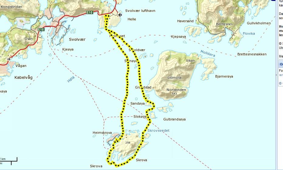 kart over svolvær Padlemia: Svolvær Skrova kart over svolvær